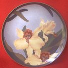 GARDENS OF THE EAST ORCHID COLLECTIBLE PLATE 1984 ~TRANSART IND~YOSHIKO ABE~JAPAN