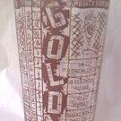 VINTAGE GOLD COACH COCKTAIL RECIPE MEASURING SHAKER GLASS~MANHATTAN-.DAIQUIRI-MARTINI-MORE
