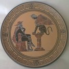 GREECE SOUVENIR PLATE ~5.5 IN~OEDIPUS AND THE SPHINX~TERRA COTTA