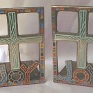 VINTAGE JOY METAL BOOKENDS WITH CROSS~1967~TERRA SANCTA GUILD