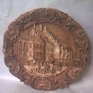 MUNCHEN HOFBRAUHAUS SOUVENIR FAUX WOOD CARVED PLAQUE~GERMANY~9 IN