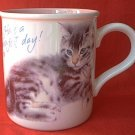 HAVE A PURR-FECT DAY CAT MUG  ~CARLTON CARDS STONEWARE