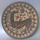 SOLD//  GREEK SOUVENIR TERRA COTTA DECORATIVE PLATE ~4.25 IN~DEER
