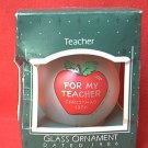 HALLMARK KEEPSAKE 1986 FOR MY TEACHER APPLE CHRISTMAS ORNAMENT ~ORIG BOX