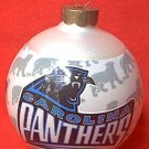 HALLMARK KEEPSAKE CAROLINA PANTHERS NFL TEAM GLASS ORNAMENT ~1995