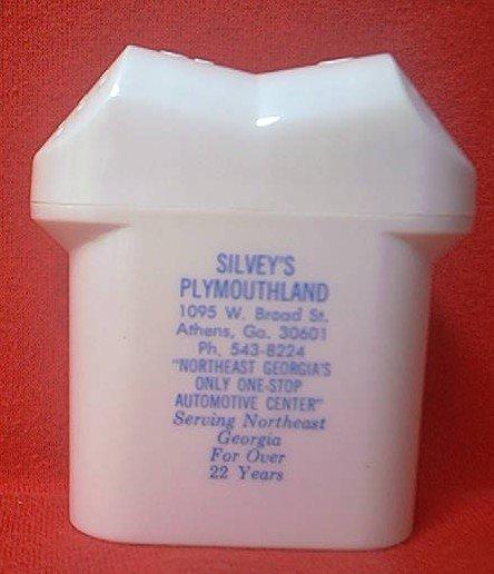 vintage advertising salt and pepper shaker silveys