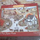 ANN STOOKEY 1000 PC JIGSAW PUZZLE ~HELPING HANDS~BARN RAISING~AMERICANA~COMPLETE