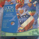 MEGA LOOK TWICE 1000 PC JIGSAW PUZZLE ~HOT AIR BALLOONS~HIDDEN BIRDS~COMPLETE