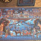 ERIC DOWDLE 500 PC JIGSAW PUZZLE ~HOMETOWN CHRISTMAS~FOLK ART~COMPLETE