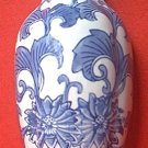 BLUE AND WHITE VASE SHAPED WALL POCKET ~NEW~UNUSED~CHINA~PRETTY FLOWERS