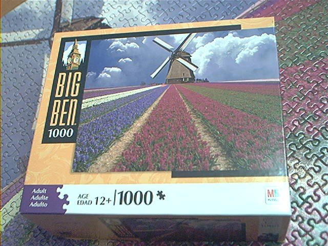 M Bradley Big Ben Jigsaw Puzzle Flower Field Netherlands