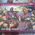 WHITE MOUNTAIN JIGSAW PUZZLE ~HARMONY GARDEN~MARY THOMPSON~ BUNNIES, SQUIRREL, BIRDS, CAT~COMPLETE