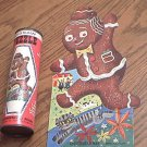 VINTAGE HARETT-GILMAR GINGERBREAD MAN 50 PC PUZZLE IN A CAN~c1960's~COMPLETE