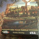 WHITE MOUNTAIN JIGSAW PUZZLE ~TERRY REDLIN~SUNDAY MORNING~COMPLETE~CHURCH~DEER