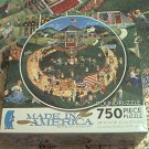 CEACO ROUND 750 JIGSAW PUZZLE ~BOB PETTES~HOLIDAY PARADE~COMPLETE~AMERICANA