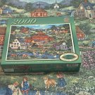 MASTERPIECES 2000 PC JIGSAW PUZZLE ~BONNIE WHITE~GENTLY DOWN THE STREAM~COMPLETE