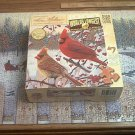 MASTER PIECES JIGSAW PUZZLE ~KIM NORLIEN~WHITE CRIMSON MORNING~3+ FT LONG~RED BIRDS~COMPLETE