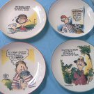 FINKSTROM GOLF CARTOON HUMOR PLATE SET ~4 FUN PLATES~GREAT GAG GIFT