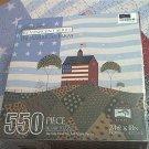 WARREN KIMBLE 550 PC JIGSAW PUZZLE ~THE AMERICAN FARM~FLAG~COMPLETE