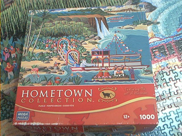 MEGA HOMETOWN COLLECTION JIGSAW PUZZLE ~HERONIM WYSOCKI~FERN GROTTO WEDDING~COMPLETE