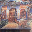 MEGA GALLERY SERIES JIGSAW PUZZLE ~AU BON CHABROT~VICTOR SHVAIKO~COMPLETE~CAFE~WOODEN
