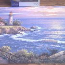 MEGA 750 PC JIGSAW PUZZLE ~SUNG KIM~SUNSET AT LIGHTHOUSE POINT~COMPLETE