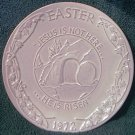 1972 FRANKOMA POTTERY EASTER PLATE~JESUS IS NOT HERE-HE IS RISEN~ORAL ROBERTS ASSN