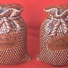 SACK OF SALT-SACK OF PEPPER VINTAGE FIGURAL SHAKERS ~JAPAN~c.1960'S