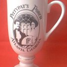 VINTAGE PITTYPAT'S PORCH ADVERTISING PEDESTAL FOOTED MUG ~ATLANTA  GA RESTAURANT