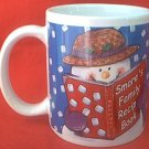 SMORE'S FAMILY RECIPE SNOWMAN COLLECTOR MUG ~ HOUSTON HARVEST~RECIPE ON BACK~UNUSED