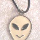 ALIEN SMILEY FACE PENDANT NECKLACE~WEAR IT oN UR UFO HUNT