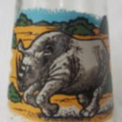 WELCH'S JAM JELLY JUICE COLLECTOR GLASS ~ENDANGERED SPECIES~BLACK RHINO #2