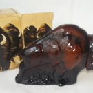 AVON AMERICAN BUFFALO WILD COUNTRY AFTER SHAVE FIGURAL BOTTLE~FULL~IN ORIGINAL BOX~MINT