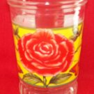 BAMA JAM, JELLY, JUICE COLLECTOR GLASS ~RED ROSE ~BUTTERFLIES