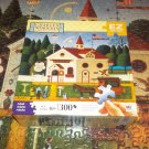 M BRADLEY E Z GRASP CHARLES WYSOCKI'S AMERICANA 300 PC JIGSAW PUZZLE ~THE BIRDHOUSE~COMPLETE