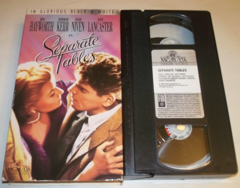 SEPARATE TABLES~VHS~RITA HAYWORTH, DEBRA KERR, DAVID NIVEN, BURT LANCASTER~1958 CLASSIC