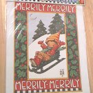 MARY ENGELBREIT DAISY KINGDOM IRON ON TRANSFER ~MERRILY MERRILY ~ 1990~ITEM 6543~CHRISTMAS