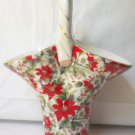 FORMALITIES PORCELAIN CHINTZ POINSETTIA BASKET VASE ~BAUM BROTHERS~9.5 IN~ORIG BOX~UNUSED