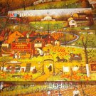 M BRADLEY JIGSAW PUZZLE~CHARLES WYSOCKI~BLACK BIRDS ROOST AT MILL CREEK~COMPLETE