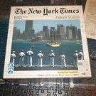 SCHMID NEW YORK TIMES JIGSAW PUZZLE ~OPSAIL 2000~NAVY SHIP JFK IN N Y HARBOR~COMPLETE~POSTER