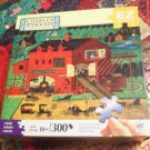 HASBRO CHARLES WYSOCKI EZ GRASP 300 JIGSAW PUZZLE~CALEB'S BUGGY BARN~COMPLETE