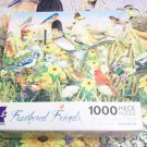 CEACO FEATHERED FRIENDS JIGSAW PUZZLE~GREG GIORDANO~COUNTRY ROAD GATHERING~COMPLETE~BIRDS