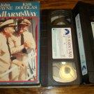 IN HARM'S WAY~VHS~JOHN WAYNE, KIRK DOUGLAS~1965 WWII CLASSIC
