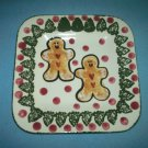 GINGERBREAD MAN~CHRISTMAS~PLATE~COLORFUL~WHIMSICAL