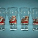 COCA-COLA SANTA CLAUS GLASSES~SET OF 4~HOLIDAY~CHRISTMAS~ADVERTISING