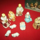 VINTAGE ARTMARK HOLY NIGHT NATIVITY SET~CHRISTMAS~BOX~SET OF 9