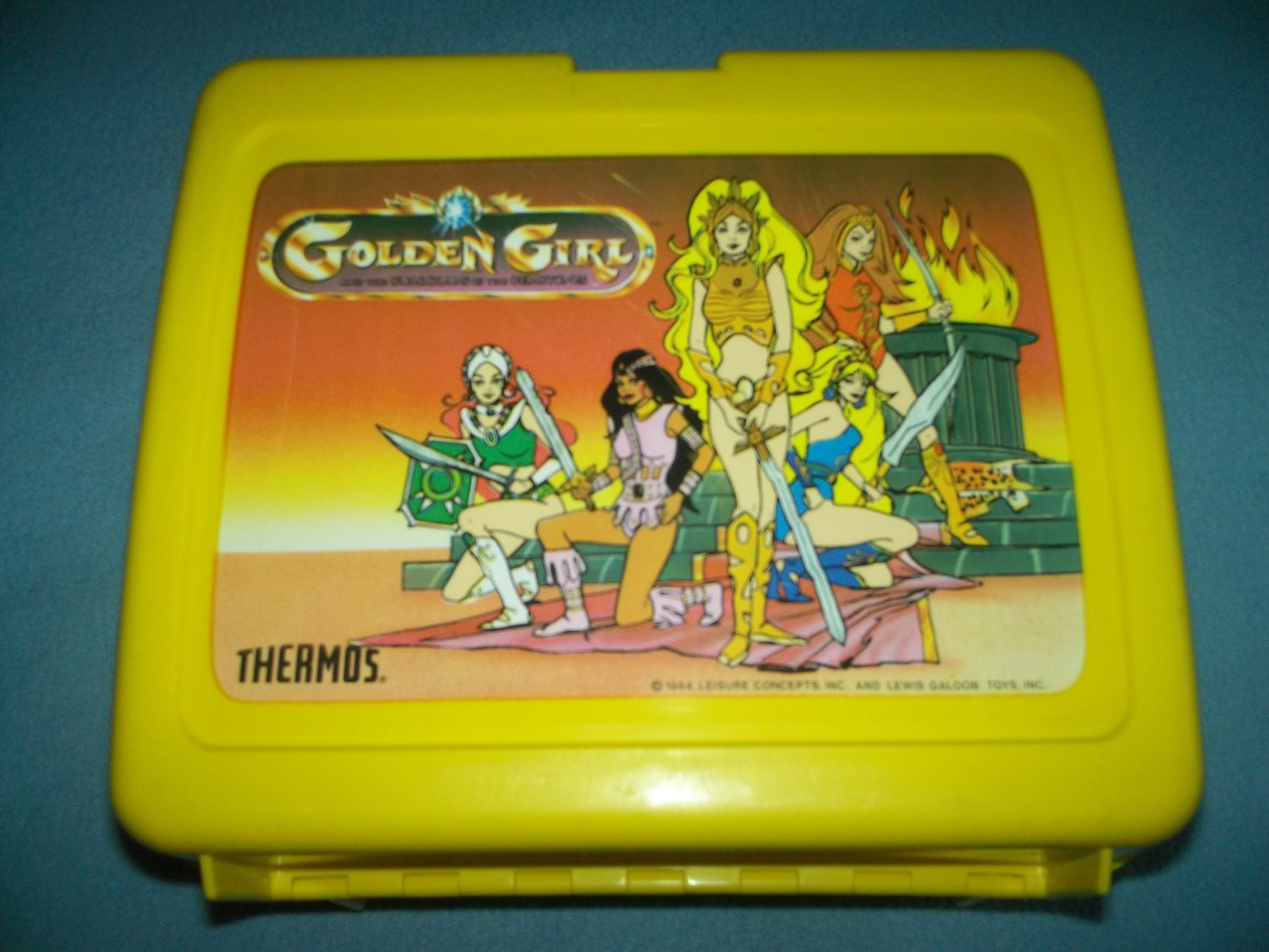 VINTAGE GOLDEN GIRL AND THE GUARDIANS OF THE GEMSTONES~LUNCH BOX~PLASTIC~1984 NO THERMOS