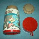 VINTAGE NINTENDO SUPER MARIO BROS. THERMOS~ALADDIN~~RED CAP~1988