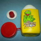 VINTAGE MUPPET SHOW THERMOS~KING-SEELEY~~RED CAP~1978 KERMIT THE FROG