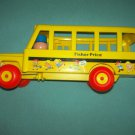 VINTAGE FISHER PRICE ROLLING SCHOOL BUS~YELLOW~1984 #192 LITTLE PEOPLE